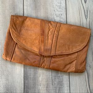Vintage Leather clutch bag